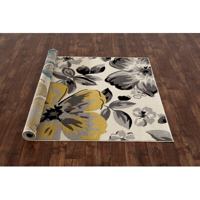 Katelyn Cream Area Rug Rug Size: 17 x 25