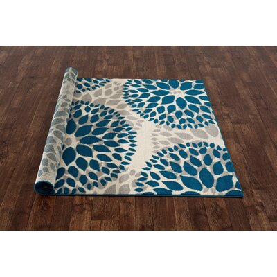 Wallner Blue Area Rug Rug Size: 17 x 25