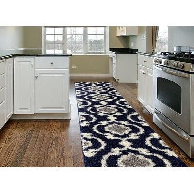 Strothers Cozy Shag Navy Area Rug Rug Size: Rectangle 2 x 72