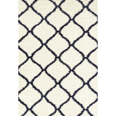 Strothers Shag Cream Area Rug Rug Size: Rectangle 33 x 5