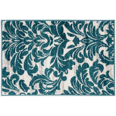 Bondville Modern Soft Blue Area Rug Rug Size: Rectangle 2' x 3'