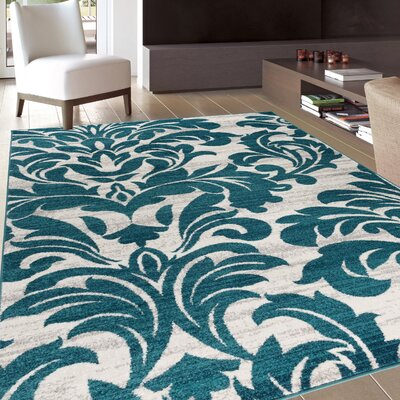 Bondville Modern Soft Blue Area Rug Rug Size: Rectangle 53 x 73