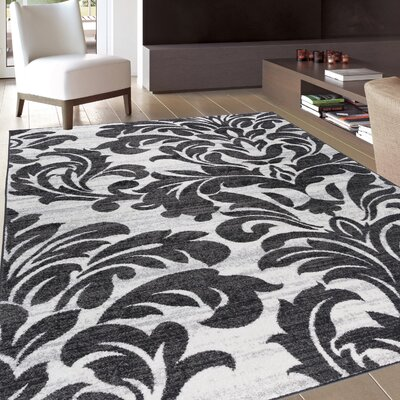Strome Modern Gray Area Rug Rug Size: Rectangle 53 x 73