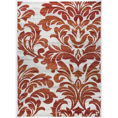 Bonfield Modern Soft Red Area Rug Rug Size: Rectangle 53 x 73