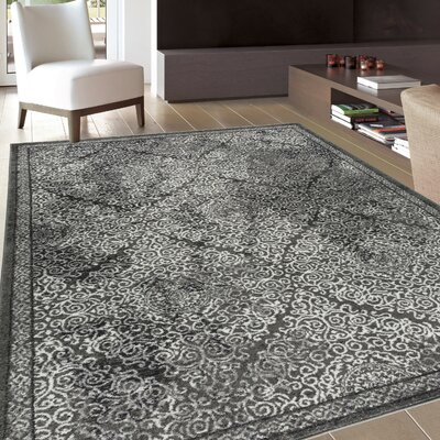 Saint Catherine Modern Distressed Soft Gray Area Rug Rug Size: Rectangle 53 x 73