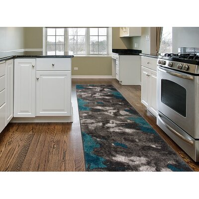 Shalah Distressed Modern Soft Gray Area Rug Rug Size: Runner 2 x 7