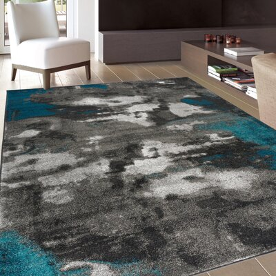 Shalah Distressed Modern Soft Gray Area Rug Rug Size: Rectangle 53 x 73