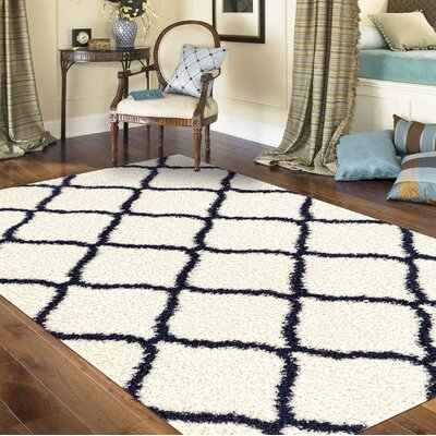 Strothers Shag Cream Area Rug Rug Size: Rectangle 710 x 10