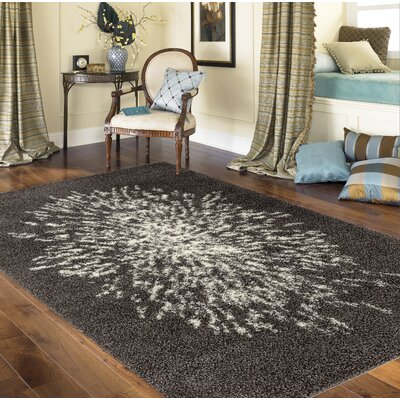 Bealer Modern Shag Gray Area Rug Rug Size: Rectangle 33 x 5