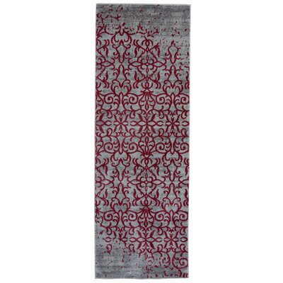 Nahlia Red Area Rug Rug Size: Runner 2 x 6