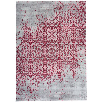 Nahlia Red Area Rug Rug Size: Rectangle 53 x 74