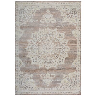 Myah Beige Area Rug Rug Size: Rectangle 53 x 74