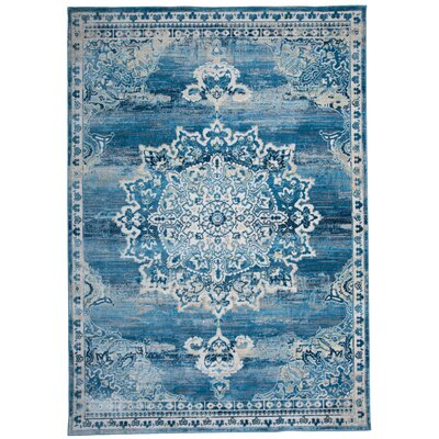 Myah Blue Area Rug Rug Size: Rectangle 76 x 95