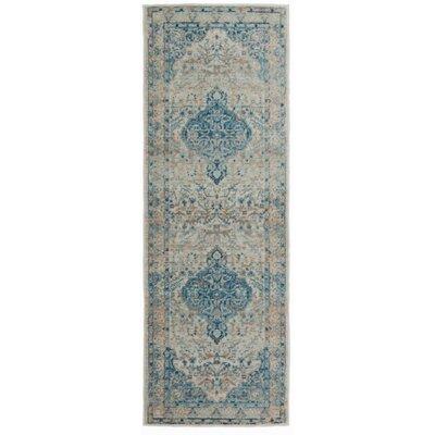 Myah Blue Area Rug Rug Size: Runner 2 x 6