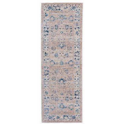 Myah Beige/Blue Area Rug Rug Size: Runner 2 x 6