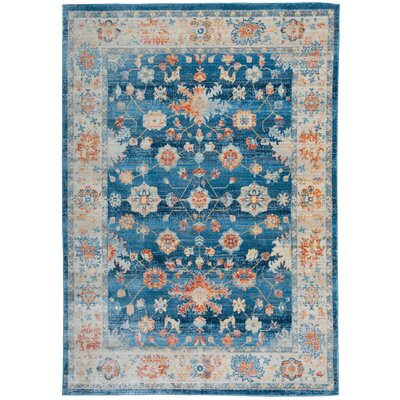Myah Blue Area Rug Rug Size: Rectangle 4 x 6