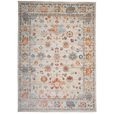 Myah Cream Area Rug Rug Size: Rectangle 53 x 74
