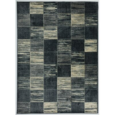 Kailee Geometric Boxe Navy Area Rug Rug Size: Rectangle 53 x 73