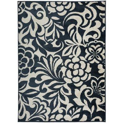 Cummingham Floral Design Navy Area Rug Rug Size: Rectangle 710 x 10
