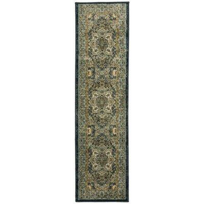 Dunstable Oriental Blue/Beige Area Rug Rug Size: Runner 11 x 7