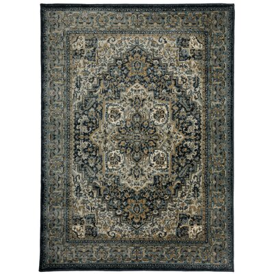Dunstable Oriental Blue/Beige Area Rug Rug Size: Rectangle 7'10