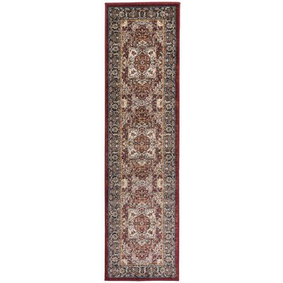 Dunstable Traditional Red/Blue Area Rug Rug Size: Runner 1'1 x 7'