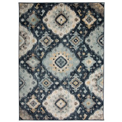 Olena Distressed Design Navy Area Rug Rug Size: Rectangle 53 x 73