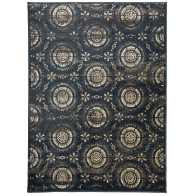 Alonza Distressed Design Navy/Beige Area Rug Rug Size: Rectangle 710 x 10