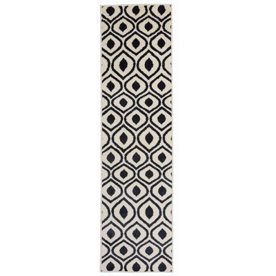 Olena Contemporary Moroccan Design Navy Area Rug Rug Size: Runner 11 x 7