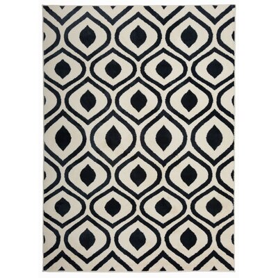 Olena Contemporary Moroccan Design Navy Area Rug Rug Size: Rectangle 53 x 73