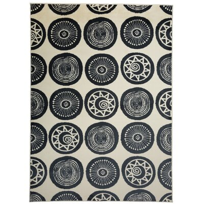 Olena Circles Design Navy Area Rug Rug Size: Rectangle 710 x 10