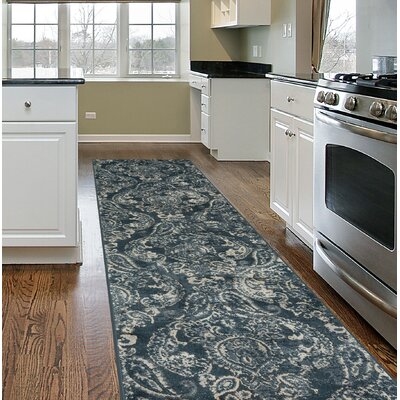 Milani Transitional Distressed Dark Gray Area Rug Rug Size: Runner 2 x 7
