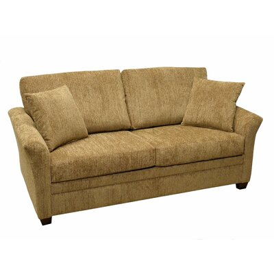 733-505M (Civic Khaki) LR1784 LaCrosse Furniture Emporia Sleeper Loveseat with 5″ Memory Foam Mattress