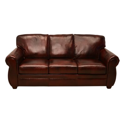LaCrosse Furniture 370-605MCS (Mesa Rust Leather) Sleeper Sofa with 5″ Memory Foam Mattress