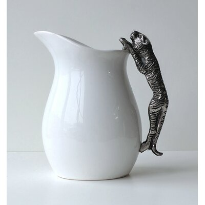 Ceramic Water Pitcher with Tiger Handle 72161