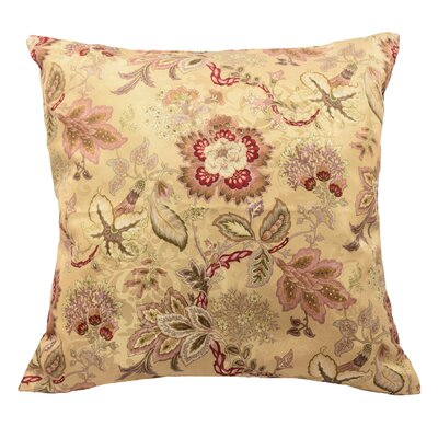 Navarra Floral Decorative Throw Pillow Color: Antique