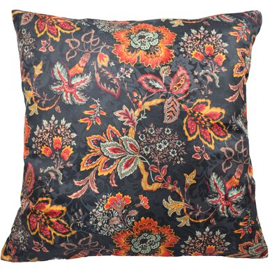Navarra Floral Decorative Throw Pillow Color: Onyx