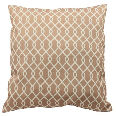 Ellis Decorative Throw Pillow Color: Natural