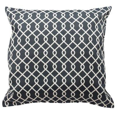 Ellis Decorative Throw Pillow Color: Onyx