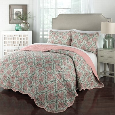 Anatalya 3 Piece Queen Quilt Set Size: King
