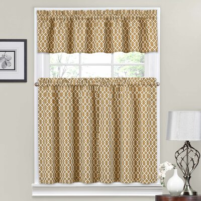 Ellis 56 Valance and Tier Set Color: Natural