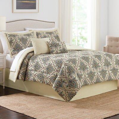 Anatalya 6 Piece Comforter Set Size: King, Color: Jewel