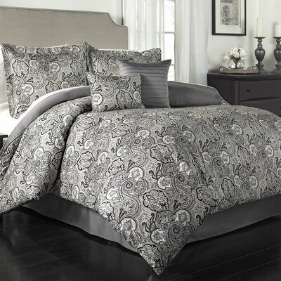 Paddock Shawl 6 Piece Comforter Set Size: King, Color: Onyx