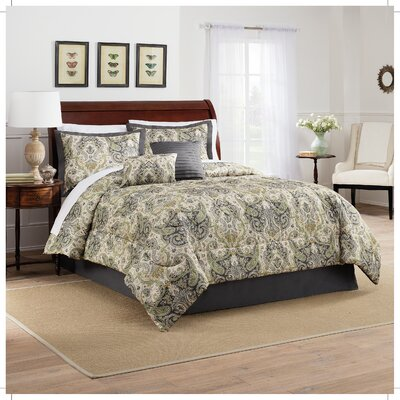 Lyrical Legend 6 Piece Comforter Set Size: Queen, Color: Shale