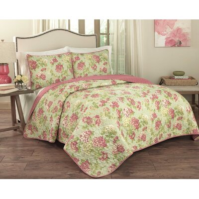 Rolling Meadow 3 Piece Quilt Set Size: Queen