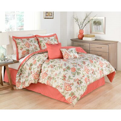 Casablanca 6 Piece Reversible Comforter Set Size: Queen