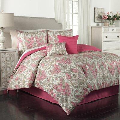 Lyrical Legend 6 Piece Comforter Set Size: King, Color: Radish