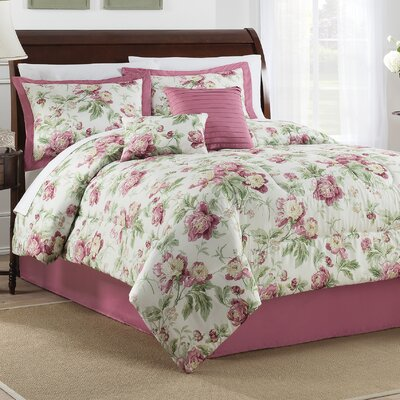 Forever Yours Berry 6 Piece Comforter Set Size: King