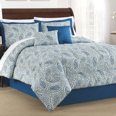 Paisley Proposal 6 Piece Comforter Set Size: King
