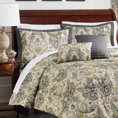 Lyrical Legend 6 Piece Comforter Set Size: King, Color: Shale